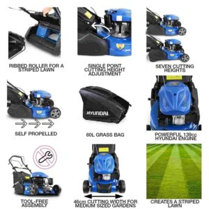 Hyundai HYM460SPR 135CC Self Propelled Petrol Roller Lawn Mower Review