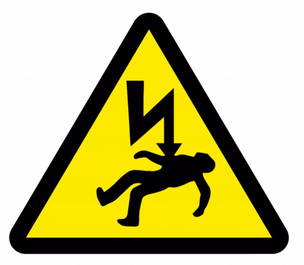 (image of an electrocution warning sign)