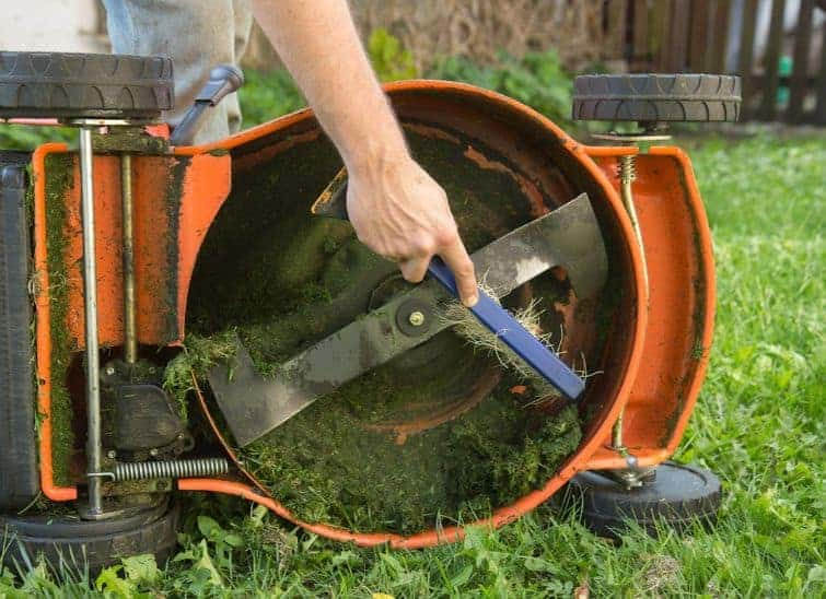 When is the best time to clean under your mower